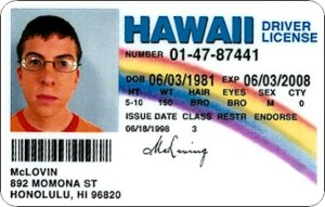 See? No super zoom on McLovin. Must be a DC thing. Or the camera lady hated me.