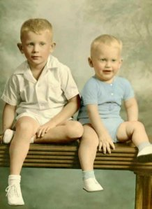 That's him on the right - 60+ years ago...