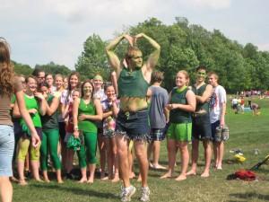 Dressed as the Hulk...for spirit points...I'll explain later